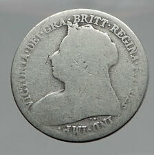 1899 UK Great Britain United Kingdom QUEEN VICTORIA Shilling Silver Coin i57112
