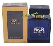 Rich Blu Icone For Men By Johan.b 3.0oz/90ml Eau De Toilette Spray New In Box