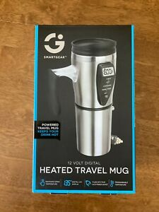 Smartgear Heated Travel Mug 12 Volt Digital 4 Illuminated Heat Zones