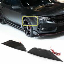 Fit 2016-2018 Honda Civic Somke Side Marker Lights Lamps Pair+T10 LED Bulb LH RH