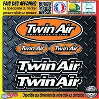 lot 5 Stickers autocollant Twin Air bricolage adhésif sponsor filtre filters
