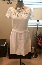 Gorgeous Faux Leather/Lace White Bailey 44 Dress Size M NWOT