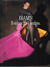 Publicité Advertising 1989 Lingerie DIM collants bas sous vetement  DIAM'S .