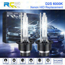 RCP - D2S6 - A Pair D2S/ D2R 6000K Xenon HID Replacement Bulb White Metal 35W