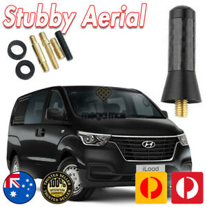 Antenna / Aerial Stubby Bee Sting for Hyundai iMax iLoad - Black Carbon