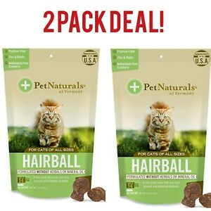 Pet Naturals of Vermont, Hairball, Daily Digestive, Skin & Coat Support for Cats