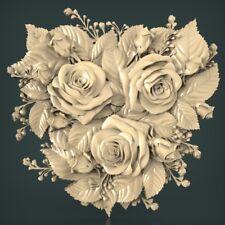 (1111) STL Model Flowers for CNC Router 3D Printer Artcam Aspire Bas Relief