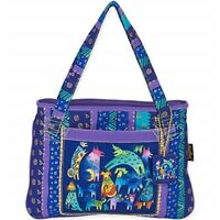 "Laurel Burch Medium Tote 15""x11""-mythical Dogs"
