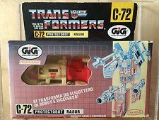 Transformers G1 1985 C-72 GiG BLADES MIB rasor takara Italian defensor