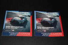 +185 BMW Motorsport M GmbH Aufkleber Sticker Decal Flagge Deutschland DTM 24H