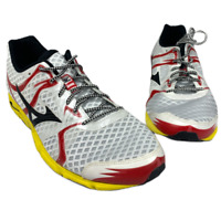 Mizuno Men's Wave Hitogami Running Shoe, White/Yellow/Red Size 13 US 47 Eur