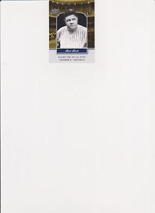 BABE RUTH 2008 Upper Deck Yankee Stadium Legacy #YSL718 New York Yankees