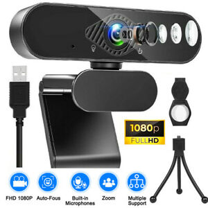 1080P Full HD Streaming Webcam with Microphone for PC Video Calling Conference