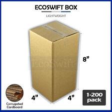 1 200 4x4x8 Ecoswift Cardboard Packing Mailing Shipping Corrugated Box Cartons