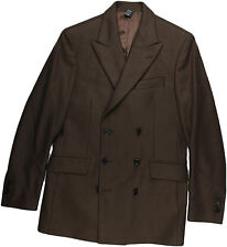 BENJAMIN BIXBY BROWN DOUBLE BREASTED CASHMERE/WOOL JACKET/ BLAZER-48/38-ITALY