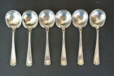 "Set of 6 Gorham Sterling Silver 5.25"" Bouillon Soup Spoon ~ Etruscan Pattern"