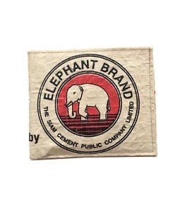 Elephant Brand Recycled Cement Bag Mans Wallet Fair Trade made in Cambodia