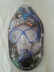 Aropec Adult Silicone Mask Goggles and Dry Snorkel Combo Set Beach Swimming