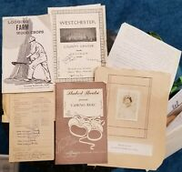 1930s 1950s Paper Ephemera WESTCHESTER Logging CAMINO REAL New Haven GREECE A+