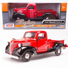 1941 Plymouth Pickup Truck Red 1:24 Diecast Vehicle Motormax 73278 NEW IN BOX