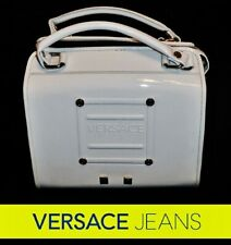VERSACE Jeans ~ white patent leather crossbody / Hobo bag ~ AUTHENTIC