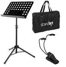 Orchesterpult Notenständer Notenpult Lochblech Super-Set inkl. Leuchte & Tasche