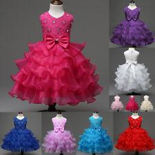 Flower Girl Princess Dress Kids Baby Birthday Party Wedding Pageant Tutu Dresses