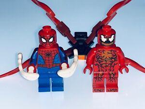 LEGO MARVEL GENUINE CARNAGE AND SPIDER-MAN FIGURES SPLIT FROM SET 76196 - NEW