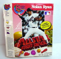 Nolan Ryan All Star Fruit Snacks MLB Texas Rangers empty box imperfect