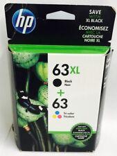 HP Genuine 63XL/63 B/C Ink Cartridges exp 2019 For HP ENVY 4512,4513,4520,4523