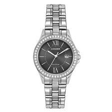 Citizen Eco-Drive Women's EW1840-51H Silhoutte Crystal Accent Bezel 28mm Watch