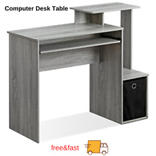 New ListingComputer Desk Table Home Office Workstation Laptop Study Writing Furniture Bin
