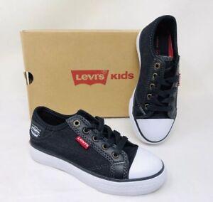 Levi's Kids Boy's Stan Buck C Classic Sneakers Black Denim, Pick A Size