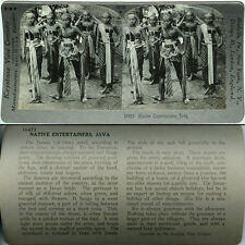 Keystone Stereoview of NATIVE ENTERTAINERS, JAVA From Popular 600/1200 Card Set