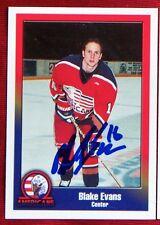Blake Evans Tri-City Americans 1999-2000 Team Set Signed Card
