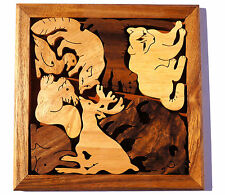 ZOO - jigsaw Wood Puzzle Animals Brain Teaser  Rompecabeza Noggin Busters