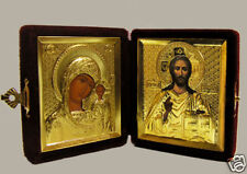 RUSSIAN GOLD DIPTYCH WEDDING or TRAVEL ICON