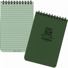 """Rite In The Rain 6""""x 4"""" Waterproof Tactical Pocket Notepad No 946 OLIVE GREEN"""