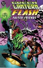 signed GREEN LANTERN FLASH FASTER FRIENDS #1 RON MARZ 1st print DC COMIC > LOST