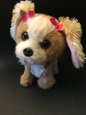 FURREAL FRIENDS ELECTRONIC DOG PUPPY BOUNCY HAPPY TO SEE ME PLUSH BOWS BROWN