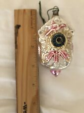 Antique Vintage Cuckoo Clock W Paper Dial German Figural Christmas Ornament
