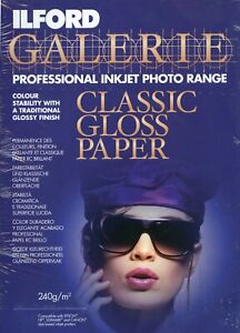 Ilford Galerie A3+ 240gsm Inkjet Paper - Classic Gloss - 25 sheets