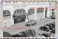 WW2 Street Scene Market Store Truck Car B&W Vintage Singapore Photo 17561
