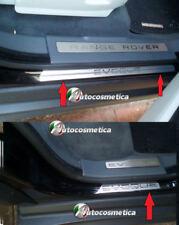 RANGE ROVER EVOQUE MATT/CHROME DOOR SILL Door sill scuff plate  FULL SET OF 4