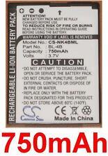 Batterie 750mAh type BL-4B BL-4BA Pour Nokia 2760