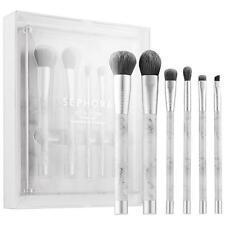 SEPHORA Collection SET IN STONE Brush Set w/ Acrylic/Marble Stone Base LT ED