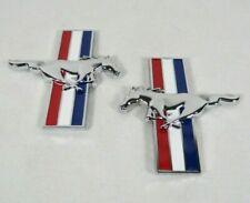 FORD MUSTANG PONY EMBLEMS 94-04 FRONT FENDER TRIBAR HORSE BADGE sign symbol logo