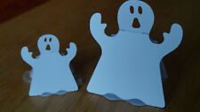 5x 3D Halloween Ghost Cut Outs. Sweetie Holders. 2 Sizes. Cardstock.