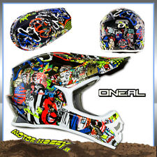 CASCO CROSS ENDURO MOTARD ATV O'NEAL ONEAL SERIE 3 RANCID MULTI TAGLIA M  57-58