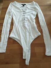 Forever 21 Body Size S White With Laces Long Sleeve